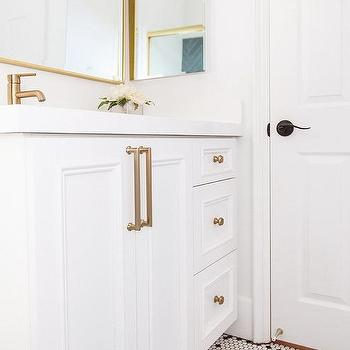 Bathroom With Gold Accents Design Ideas
