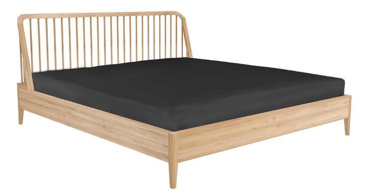 Dellah Curved Natural Oak Spindle Platform Bed