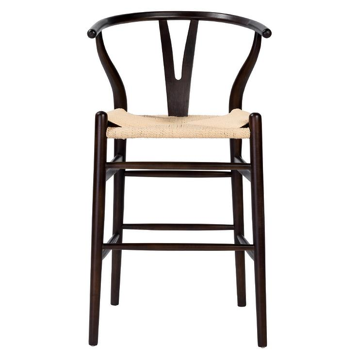 Awe Inspiring Cylia Curved Walnut Woven Seat Counter Stool Camellatalisay Diy Chair Ideas Camellatalisaycom