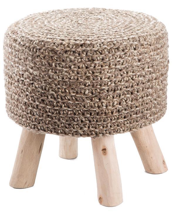 Astonishing Petit Trou Stone Woven Wool Wood Stool Pdpeps Interior Chair Design Pdpepsorg
