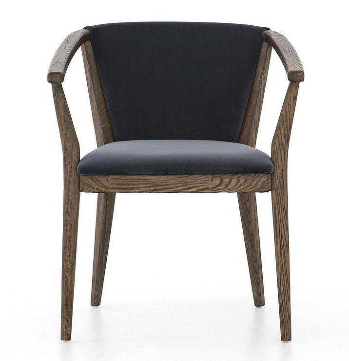 Audrey Blue Velvet Tufted Dining Chair