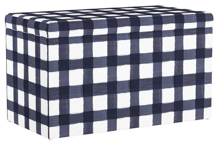 Cullen Kids Buffalo Square Blue Storage Bench