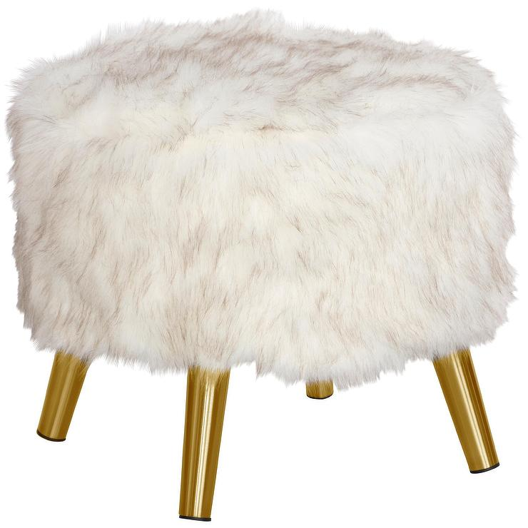 Magnificent Belle White Faux Fur Goldtone Accent Chair Andrewgaddart Wooden Chair Designs For Living Room Andrewgaddartcom