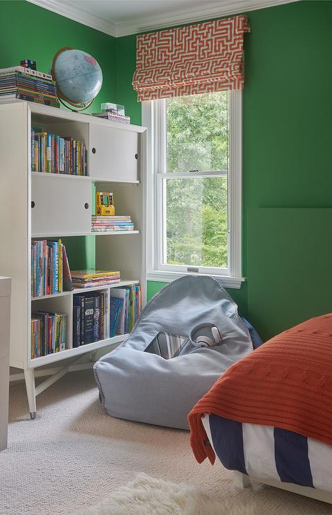 Red Green and Blue Boys Room - Transitional - Bedroom