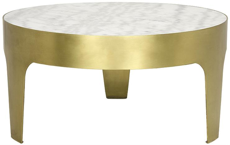 Baldwin Round Marble Gold Coffee Table