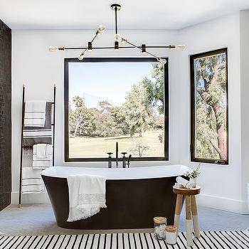 olive green bathroom decor ideas for your luxury bathroom.htm olive tree next to modern gray cast iron tub transitional bathroom  modern gray cast iron tub