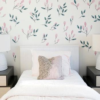 White Upholstered Headboard Transitional Bedroom