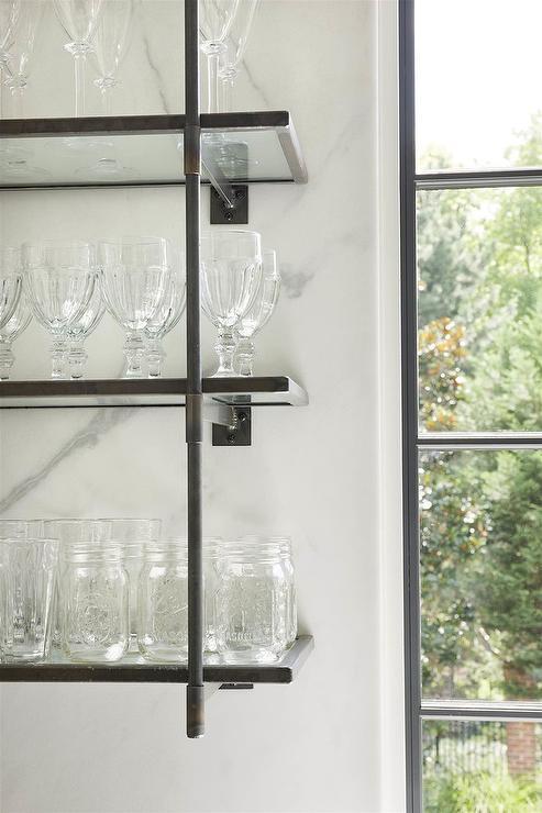 French Style Iron Kitchen Shelving Unit - Transitional - Kitchen