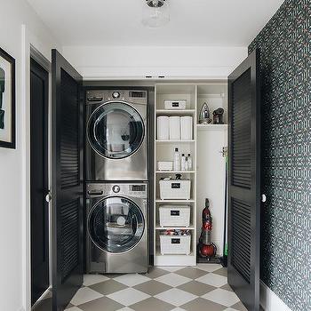 Folding Shutter Laundry Room Doors Design Ideas