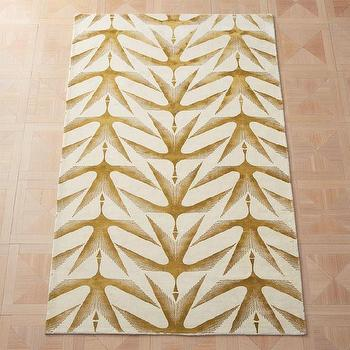 Honor Gold And Ivory Wool And Cotton Area Rug