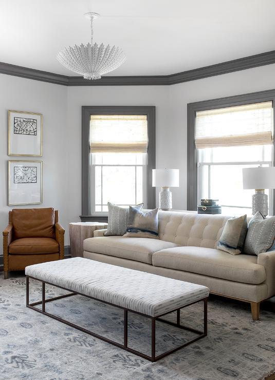 Ivory Tufted Sofa Contemporary Living Room Ana Antunes