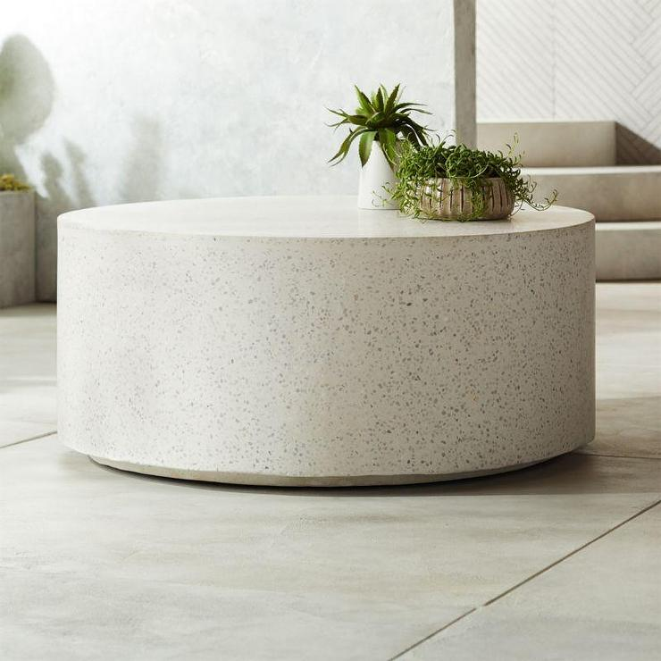 Astounding Terrazzo Round White Stone Coffee Table Ncnpc Chair Design For Home Ncnpcorg