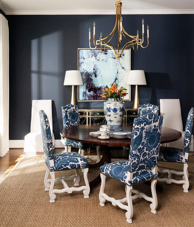 Dark Blue Dining Room Chairs Off 73, Blue Dining Room Chairs