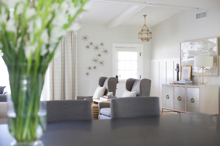 Strange Gray Wingback Accent Chairs With Nesting Table Inzonedesignstudio Interior Chair Design Inzonedesignstudiocom