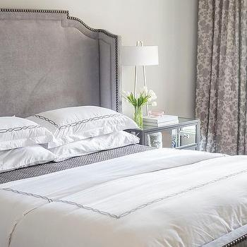Strand Mirrored Squares Headboard Bed