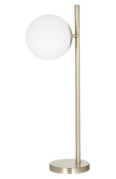 Geneva Glass Brass Triple Globe Table Lamp