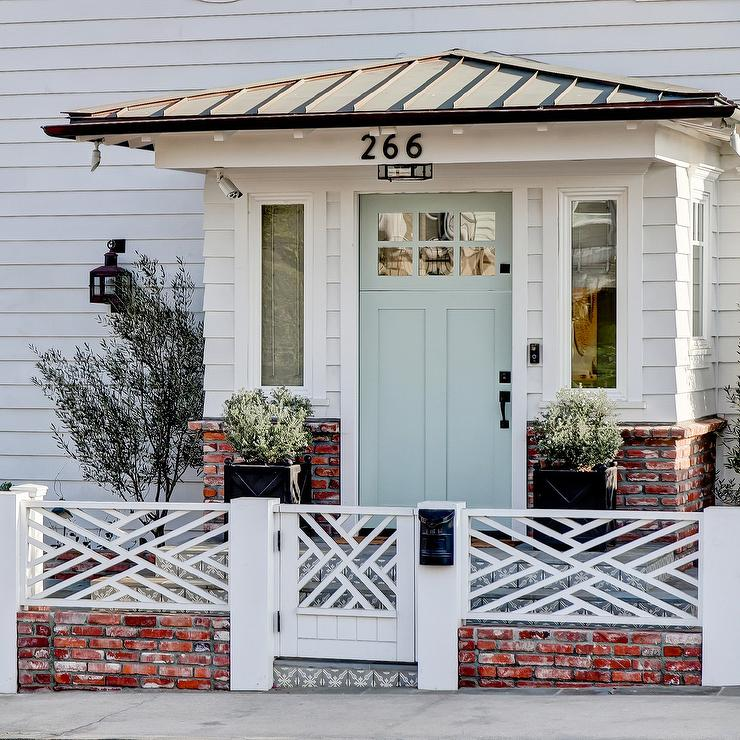 Light Blue Door On White Beach Cottage Cottage Home