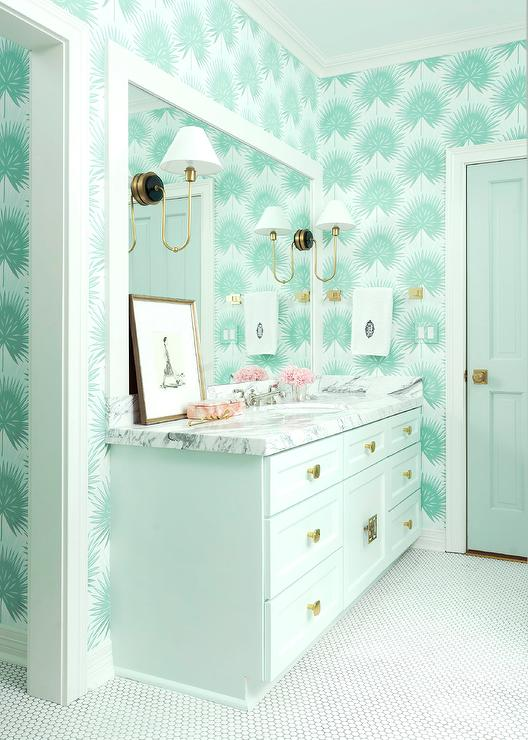 Awesome White And Green Bathroom With Light Green Washstand Download Free Architecture Designs Embacsunscenecom