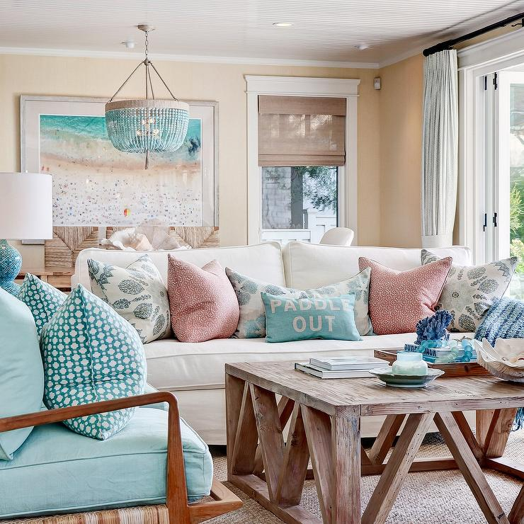 Awesome White Loveseat With Blue Accent Chairs Cottage Living Room Caraccident5 Cool Chair Designs And Ideas Caraccident5Info