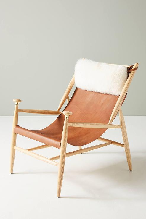 Fine Sydney Cedar Leather Slingback Wood Chair Uwap Interior Chair Design Uwaporg