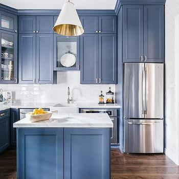 terrific blue yellow kitchen decor | Small Farmhouse Sink Design Ideas