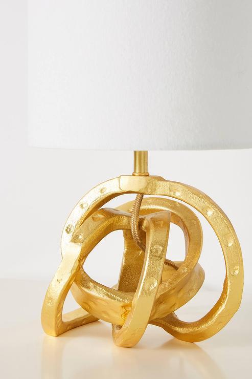 Gold Gothic Revival Trellis Table Lamp
