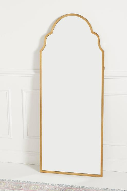 Antique Tiled Floor Mirror West Elm