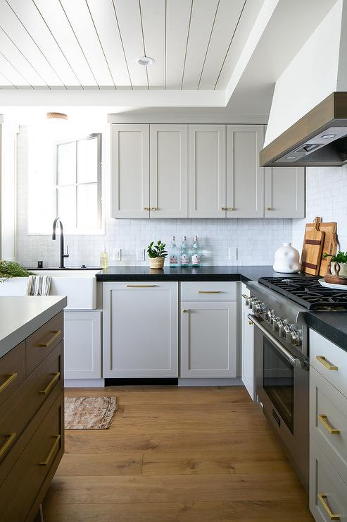 White Kitchen Cabinet Hardware Black