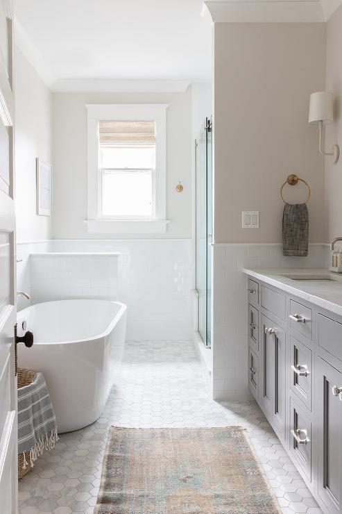 Narrow Bathroom Design Ideas on mexican tile design rug, kitchen tile rug, ceramic tile rug, faucet design rug,