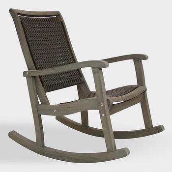 Peachy Childs White Woven Wicker Rocking Chair Short Links Chair Design For Home Short Linksinfo