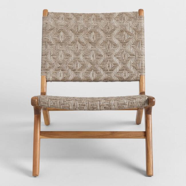 Superb Girona Geometric Wicker Outdoor Accent Chairs Creativecarmelina Interior Chair Design Creativecarmelinacom