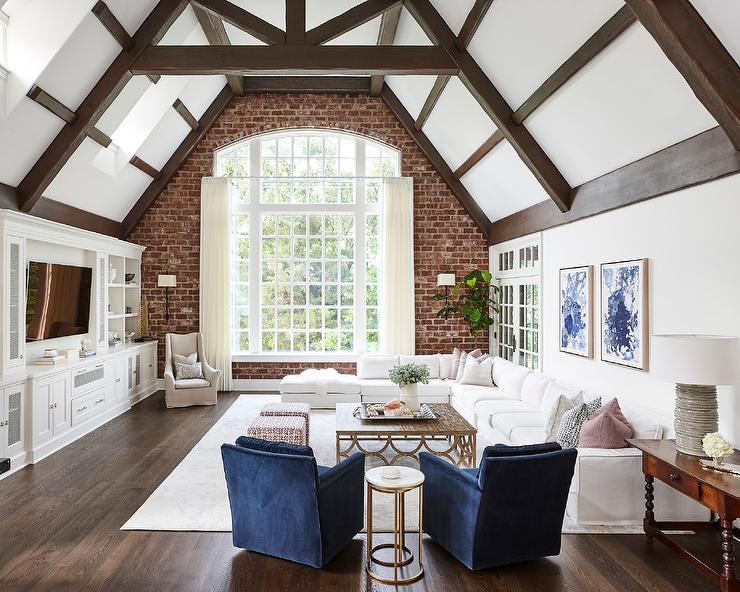 Brick Living Room Ideas Traditional Living Room Opal