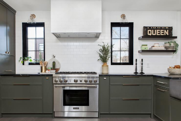Charcoal Gray Kitchen Cabinets And Drawers Transitional Kitchen