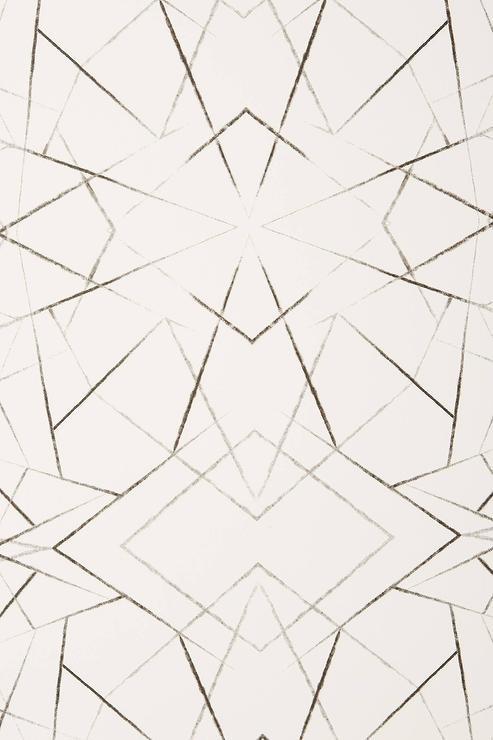 Geometric Diamond Black White Wallpaper