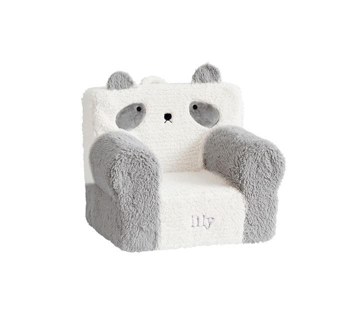 Fantastic My First Gray Panda Sherpa Anywhere Chair Gmtry Best Dining Table And Chair Ideas Images Gmtryco