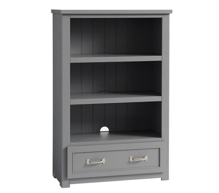 huge discount 0c4b4 36f25 Belden Matte Gray Paneled 1 Drawer Bookcase