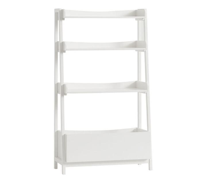Essex 4 Shelf Barrister White Bookcase