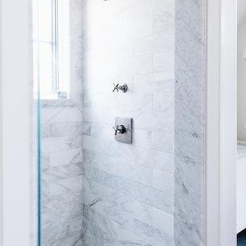 Gray And White Marble Chevron Bathroom Accent Wall Design Ideas