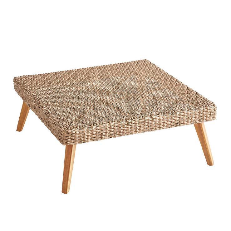 Astonishing Bari Sand Square Wicker Coffee Table Spiritservingveterans Wood Chair Design Ideas Spiritservingveteransorg