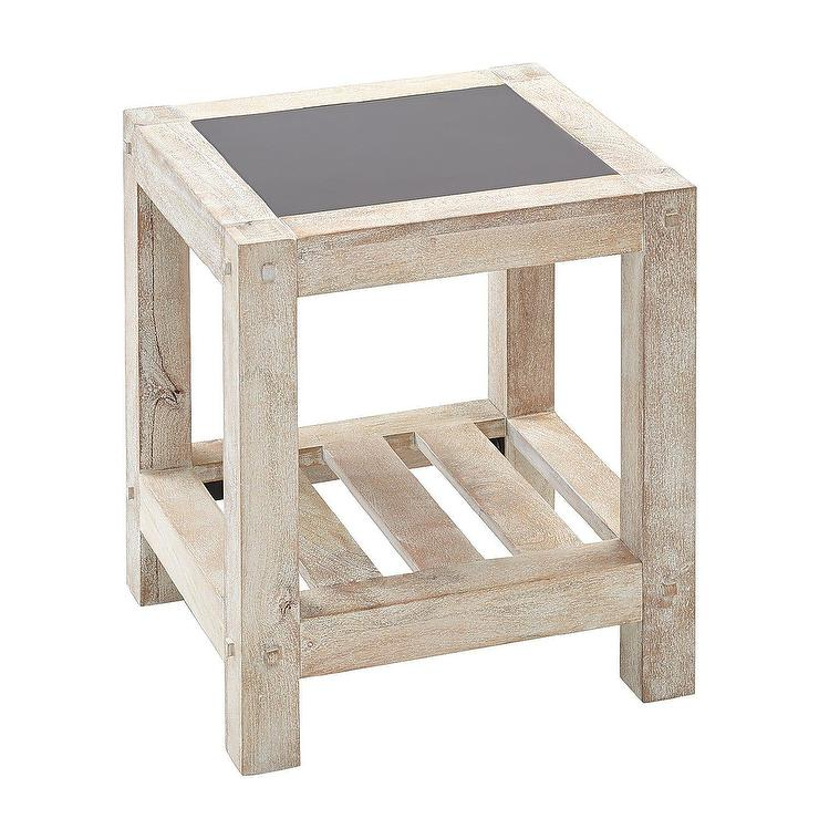 Awe Inspiring Vermont Square Whitewash Slatted Wood End Table Alphanode Cool Chair Designs And Ideas Alphanodeonline