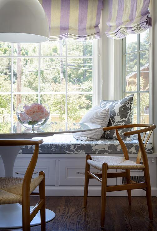 Admirable Oval Marble Tulip Table At Built In Window Seat Bench Uwap Interior Chair Design Uwaporg