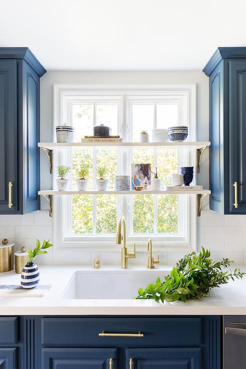 Shelf In Front Of Window Design Ideas