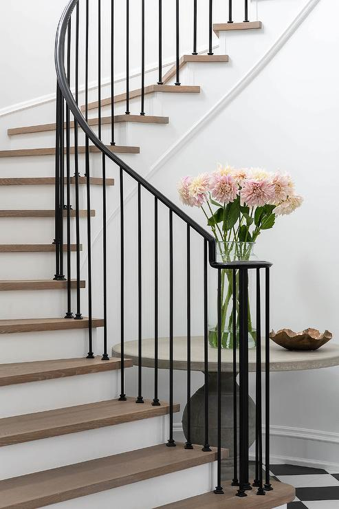 wrought iron spindle with interesting wrought iron.htm wrought iron spindles on winding staircase transitional  wrought iron spindles on winding