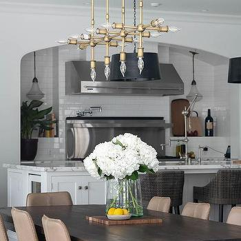 Dark Dining Table With Light Chairs Design Ideas