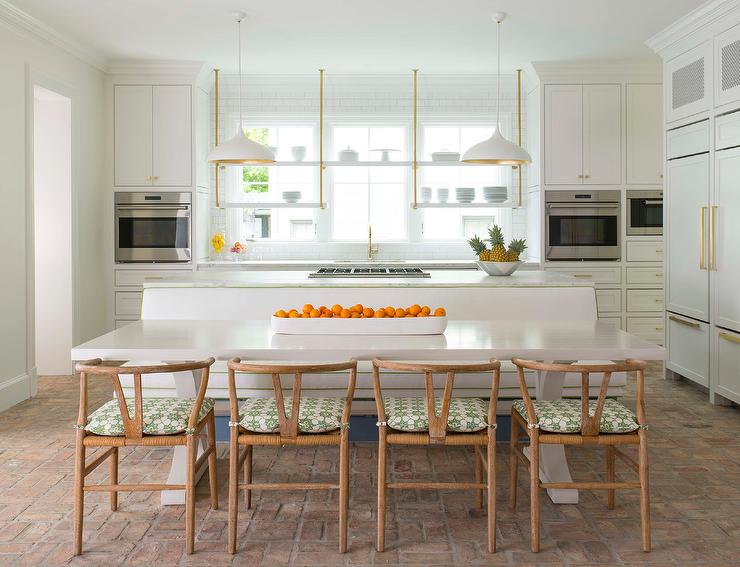 Admirable Kitchen Island Built In Dining Bench Design Ideas Bralicious Painted Fabric Chair Ideas Braliciousco