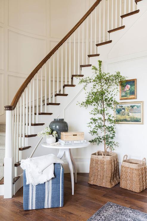 Blue Grasscloth Wallpaper Traditional Basement