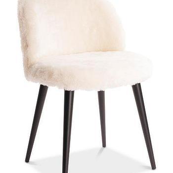 Fine Delphine White Faux Fur Gold Accent Chair Machost Co Dining Chair Design Ideas Machostcouk