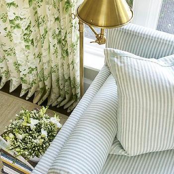 Striped Sofa Contemporary Living Room Windsor Smith Home