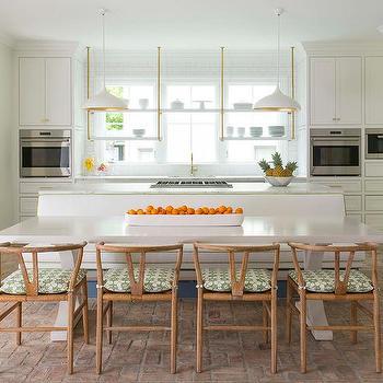 Kitchen Island Banquette Design Ideas