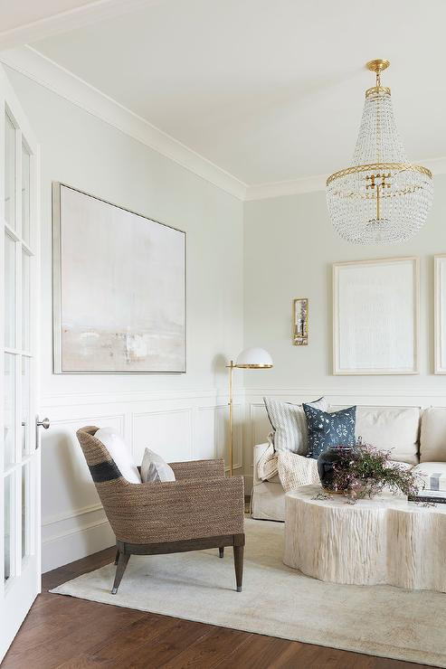 Pleasant White Living Room Design With Brown Accent Chair Squirreltailoven Fun Painted Chair Ideas Images Squirreltailovenorg